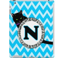 N Cat Chevron Monogram iPad Case/Skin