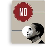 No Obama Canvas Print