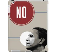 No Obama iPad Case/Skin