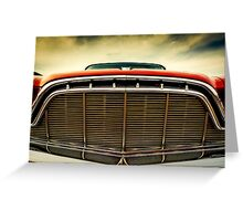 1960 Desoto Fireflite Coupe Grill Greeting Card