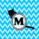 M Cat Chevron Monogram by gretzky