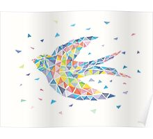 Swallow Triangled Poster