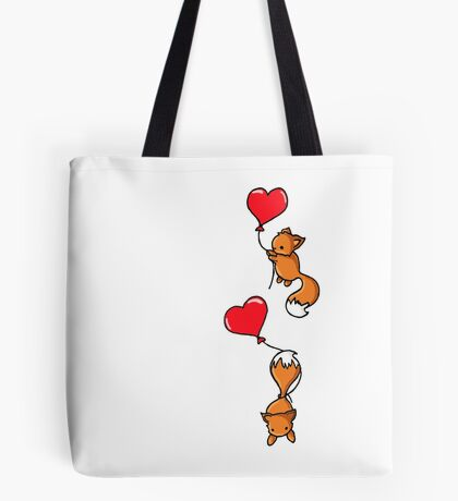 Playful Foxes Tote Bag