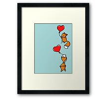Playful Foxes Framed Print