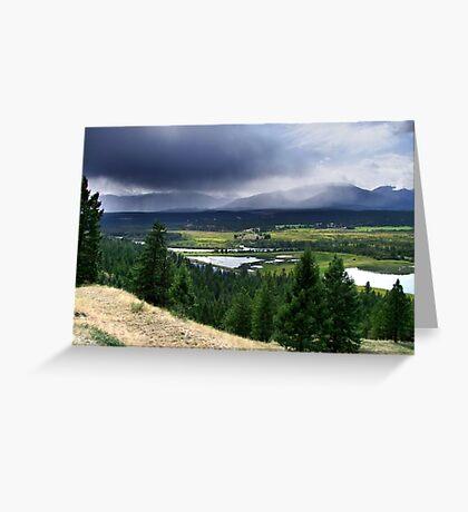 Thunderstorm ,Kootenay Mountains Greeting Card