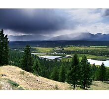 Thunderstorm ,Kootenay Mountains Photographic Print