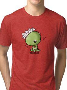 Dino says Rawr Tri-blend T-Shirt