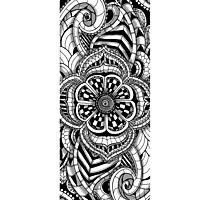 Henna paisley mandala print pattern Photographic Print