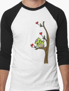 Cute Owl Men's Baseball ¾ T-Shirt