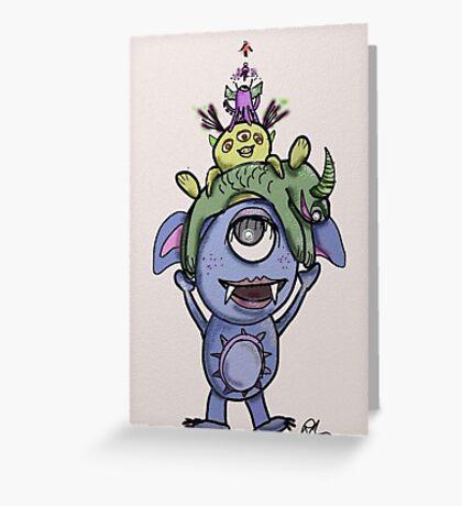 Monster Piles Greeting Card