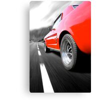 The road ahead - Ford Mustang Canvas Print