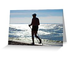 Sports on the beach.... Greeting Card