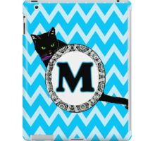 M Cat Chevron Monogram iPad Case/Skin