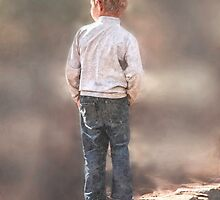 Always with his hands in his pockets! So precious!  by Qnita