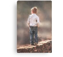 Always with his hands in his pockets! So precious!  Canvas Print