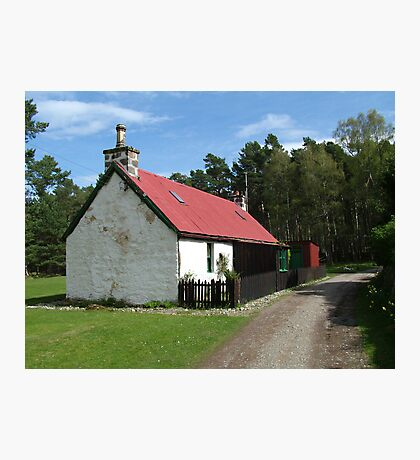 Cottage at Loch an Eilean Photographic Print
