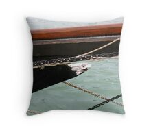The Black Pearl #2 ~ The Figurehead Throw Pillow