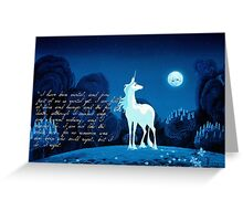 The Last Unicorn 2.0 Greeting Card