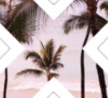 X Pink Tropical Sticker