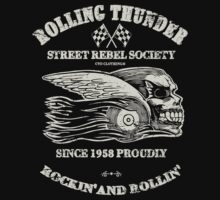 Rolling Thunder Street Rebels T-Shirt by GTOclothing