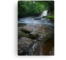 Sgwd Ddwli Uchaf waterfalls South Wales Canvas Print