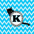 K Cat Chevron Monogram by gretzky