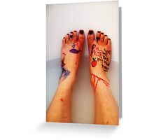 Frida's Feet. Greeting Card