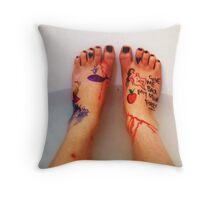 Frida's Feet. Throw Pillow