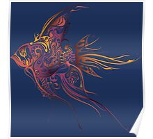 Colorful patterned fish Poster