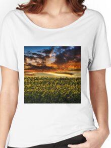 Sunflower Field Women's Relaxed Fit T-Shirt
