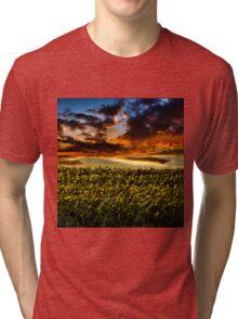 Sunflower Field Tri-blend T-Shirt