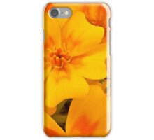 Tagette Blossoms Macro iPhone Case/Skin