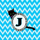 J Cat Chevron Monogram by gretzky