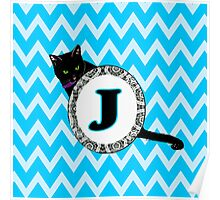J Cat Chevron Monogram Poster