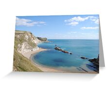 Man of War Bay - West Lulworth, Dorset, UK Greeting Card