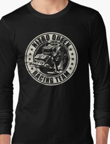 Nitro Queen Racing Team V8 Muscle Car   Aged White Long Sleeve T-Shirt