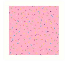 Sprinkles Jimmies Dessert Pattern Art Print