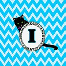 I Cat Chevron Monogram by gretzky