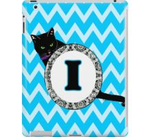 I Cat Chevron Monogram iPad Case/Skin