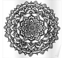 Hand drawn ornamental mandala Poster