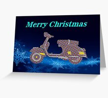 Vespa Bauble Greeting Card