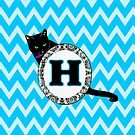 H Cat Chevron Monogram by gretzky