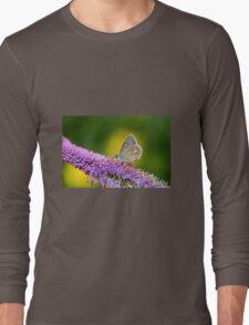 Silver-studded Blue Butterfly Long Sleeve T-Shirt