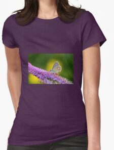 Silver-studded Blue Butterfly Womens Fitted T-Shirt