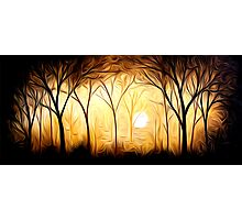 Abstract Trees Oil Painting #6 Photographic Print