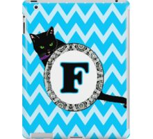 F Cat Chevron Monogram iPad Case/Skin