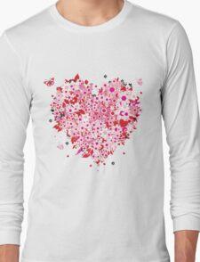 Beautiful floral heart Long Sleeve T-Shirt