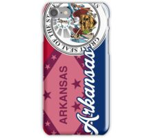 Arkansas Seal Flag Art iPhone Case/Skin