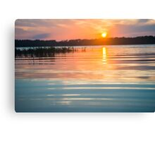 Calm Sunset on the Lake Canvas Print