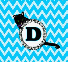D Cat Chevron Monogram by gretzky
